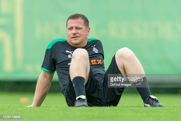 Sporting director Max Eberl of Borussia Moenchengladbach looks on during day 4 of the preseason summer training camp of Borussia Moenchengladbach on...