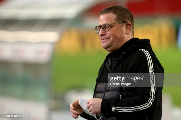 Sporting director Max Eberl of Borussia Moenchengladbach Looks on during the DFB Cup Round of Sixteen match between VfB Stuttgart and Borussia...