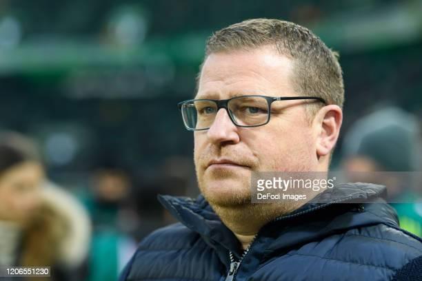 sporting director Max Eberl of Borussia Moenchengladbach looks on prior to the Bundesliga match between Borussia Moenchengladbach and Borussia...