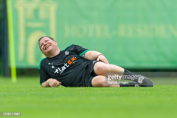 Sporting director Max Eberl of Borussia Moenchengladbach smiles during day 4 of the preseason summer training camp of Borussia Moenchengladbach on...