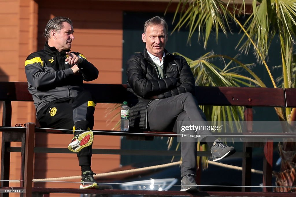 Sporting director Michael Zorc of Borussia Dortmund and ...