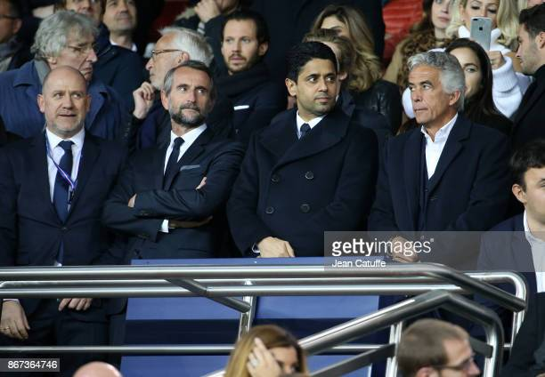 Sporting Director of PSG Antero Henrique Director of PSG JeanClaude Blanc President of PSG Nasser Al Khelaifi President of OGC Nice JeanPierre Rivere...