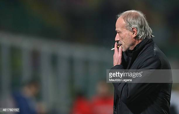 Sporting director of Roma Walter Sabatini during the Serie A match between US Citta di Palermo and AS Roma at Stadio Renzo Barbera on January 17 2015...