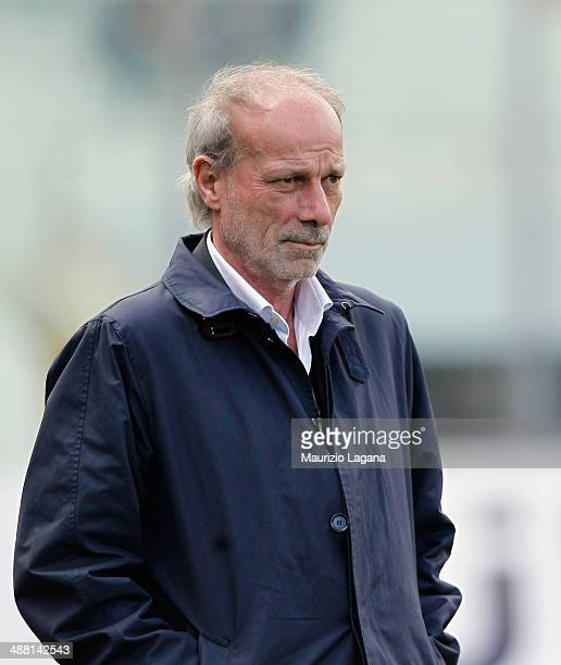 Sporting director of Roma Walter Sabatini during the Serie A match between Calcio Catania and AS Roma at Stadio Angelo Massimino on May 4 2014 in...