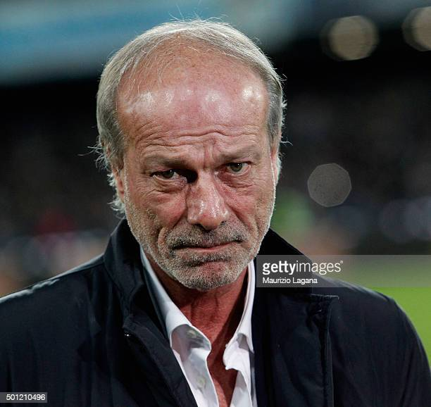 Sporting director of Roma Walter Sabatini during the Serie A match betweeen SSC Napoli and AS Roma at Stadio San Paolo on December 13 2015 in Naples...