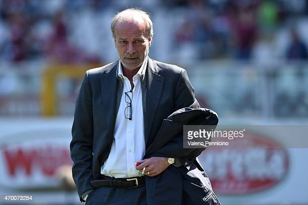 Sporting director of Roma Walter Sabatini looks on prior to the Serie A match between Torino FC and AS Roma at Stadio Olimpico di Torino on April 12...