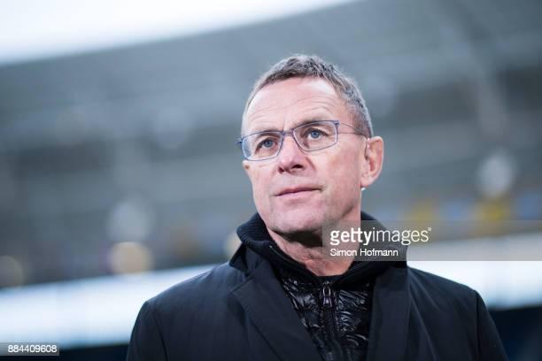 Sporting Diretor Ralf Rangnick of Leipzig looks on during the Bundesliga match between TSG 1899 Hoffenheim and RB Leipzig at Wirsol RheinNeckarArena...