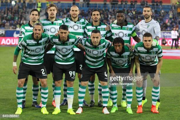 Sporting initial team during the match between Estoril Praia SAD and Sporting CP for the Portuguese Primeira Liga at Estadio Antonio Coimbra da Mota...