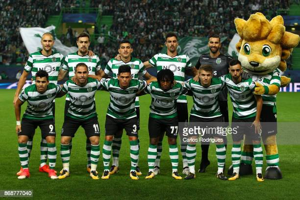 Sporting initial team during the UEFA Champions League group D match between Sporting CP and Juventus FC at Estadio Jose Alvalade on October 31 2017...