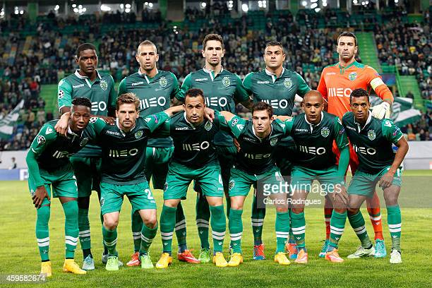 Sporting initial team during the UEFA Champions League match between Sporting Clube de Portugal and NK Maribor on November 25 2014 in Lisbon Portugal