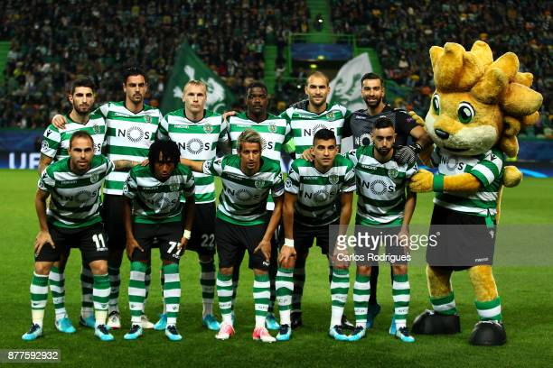 Sporting initial team during the UEFA Champions League match between Sporting CP and Olympiakos Piraeus at Estadio Jose Alvalade on November 22 2017...