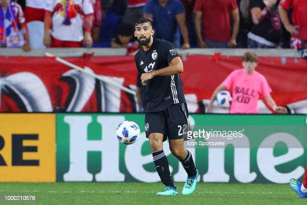 Sporting Kansas City defender Emiliano Amor during the second half of the Major League Soccer game between Sporting Kansas City and the New York Red...