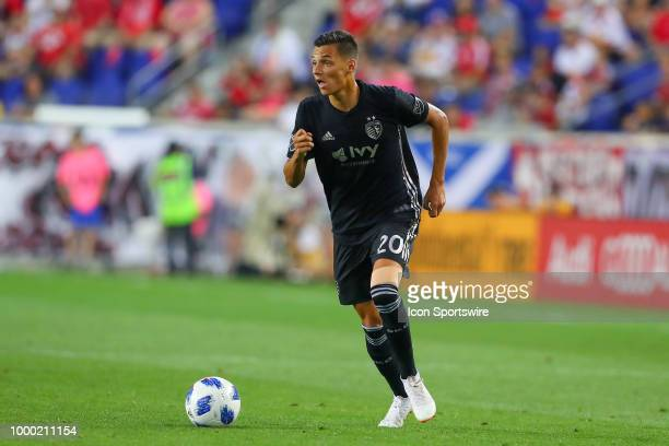 Sporting Kansas City forward Daniel Salloi during the second half of the Major League Soccer game between Sporting Kansas City and the New York Red...