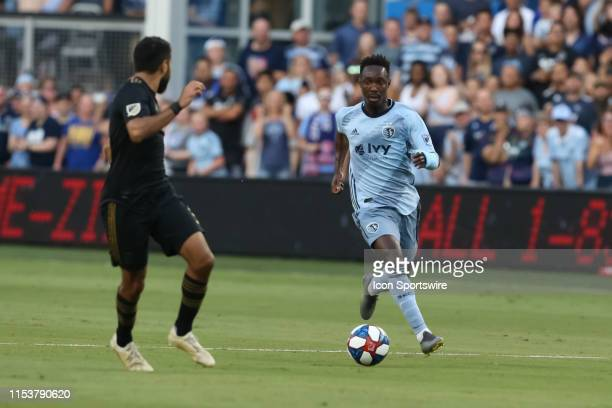 Sporting Kansas City forward Gerso makes a run in the first half of an MLS match between LAFC and Sporting Kansas City on July 03 2019 at Children's...