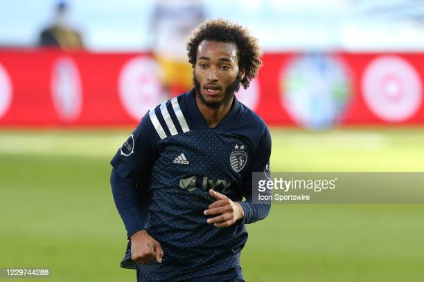 Sporting Kansas City forward Gianluca Busio in the first half of an MLS playoff match between the San Jose Earthquakes and Sporting Kansas City on...