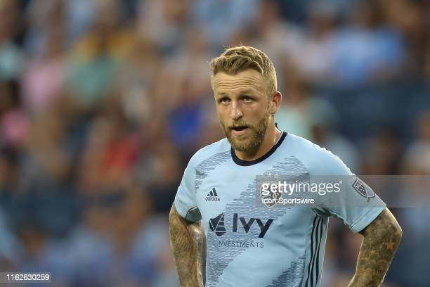 Sporting Kansas City forward Johnny Russell in the first half of an MLS match between the San Jose Earthquakes and Sporting Kansas City on August 17,...