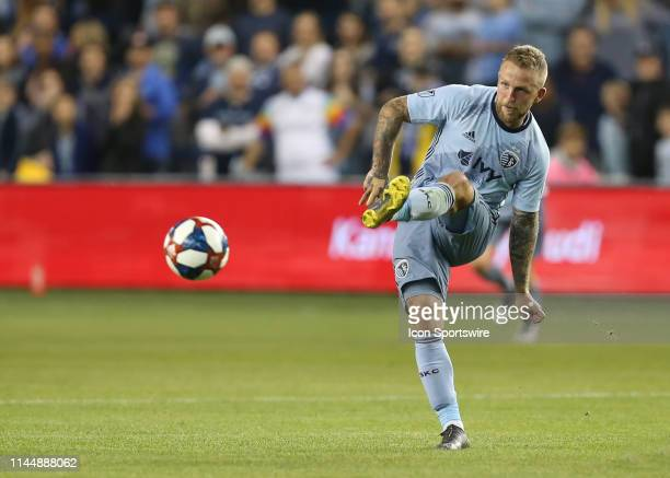 Sporting Kansas City forward Johnny Russell makes a pass in the second half of an MLS match between the Vancouver Whitecaps and Sporting Kansas City...