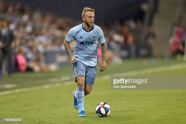 Sporting Kansas City forward Johnny Russell makes a run in the second half of an MLS match between the San Jose Earthquakes and Sporting Kansas City...