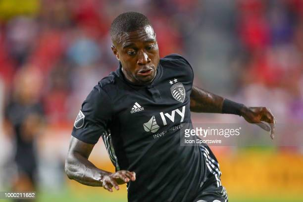 Sporting Kansas City forward Kharlton Belmar during the second half of the Major League Soccer game between Sporting Kansas City and the New York Red...