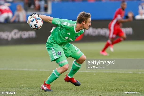 Sporting Kansas City goalkeeper Tim Melia during the MLS match between Sporting KC and FC Dallas on April 22 2017 at Toyota Stadium in Frisco TX FC...