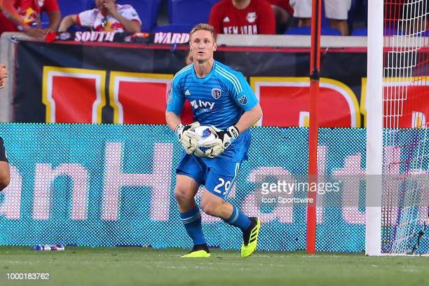 Sporting Kansas City goalkeeper Tim Melia during the second half of the Major League Soccer game between Sporting Kansas City and the New York Red...
