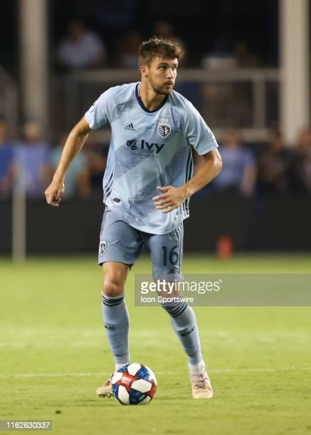 Sporting Kansas City midfielder Graham Smith in the second half of an MLS match between the San Jose Earthquakes and Sporting Kansas City on August...