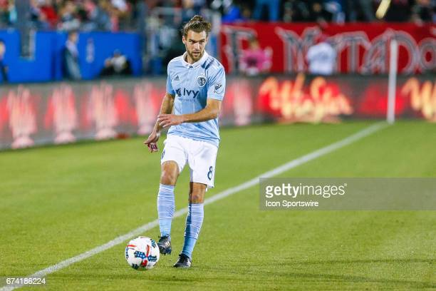 Sporting Kansas City midfielder Graham Zusi during the MLS match between Sporting KC and FC Dallas on April 22 2017 at Toyota Stadium in Frisco TX FC...