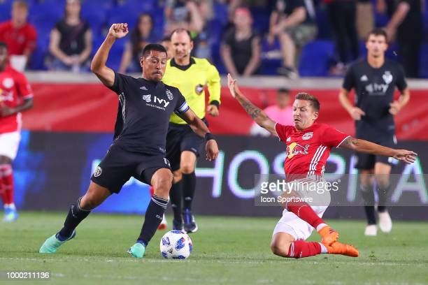 Sporting Kansas City midfielder Roger Espinoza during the second half of the Major League Soccer game between Sporting Kansas City and the New York...