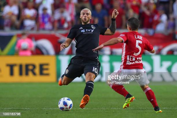 Sporting Kansas City midfielder Yohan Croizet during the second half of the Major League Soccer game between Sporting Kansas City and the New York...