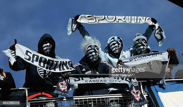 Sporting KC fans wait in the stands before of the start of the game against Real Salt Lake in the 2013 MLS Cup at Sporting Park on December 7 2013 in...