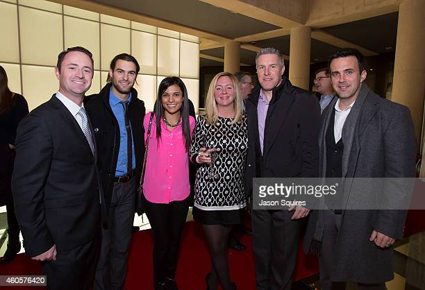 Sporting KC midfielder Graham Zusi Sporting KC Head Coach Peter Vermes Sporting KC Assistant Coach Kerry Zavagnin and guests attend a private...