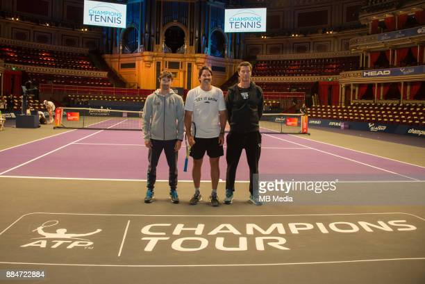Sporting legends Juan Carlos Ferrero Pat Rafter and Marat Safin launch the return of Champions Tennis at the Royal Albert Hall