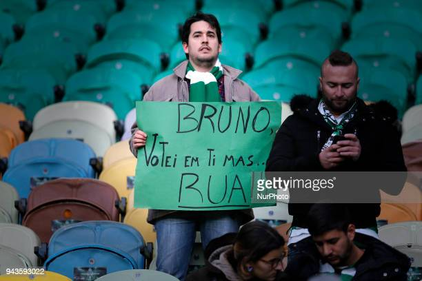 Sporting supporters during the Premier League 2017/18 match between Sporting CP v FC Pacos de Ferreira, at Estadio Jose Alvalade on April 8, 2018 in...