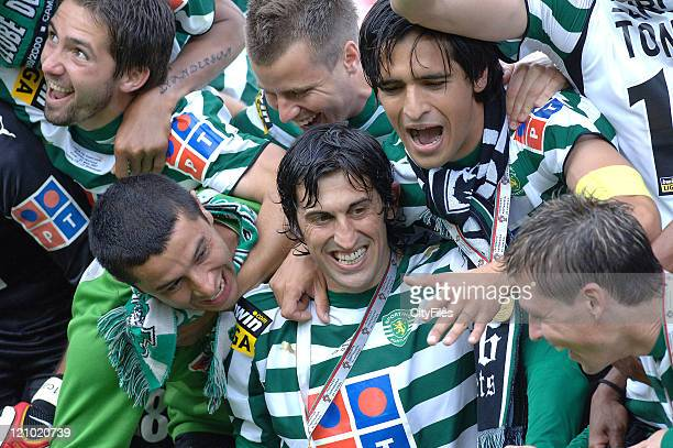 Sporting Team during the Portuguese Cup Final match between Belenenses and Sporting Lisbon held in Lisbon Portugal on May 27 2007