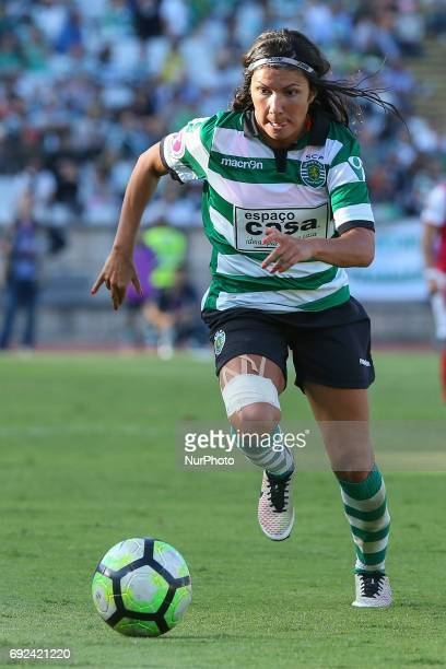 Sportings Ana Borges during the match between Sporting CP and SC Braga for the Portuguese Women's Final Cup at Estadio Nacional on Jun 4 2017 in...
