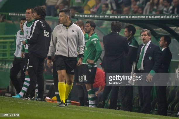 Sporting's chairman Bruno de Carvalho during the Portuguese League football match between Sporting CP and SL Benfica at Alvalade Stadium in Lisbon on...