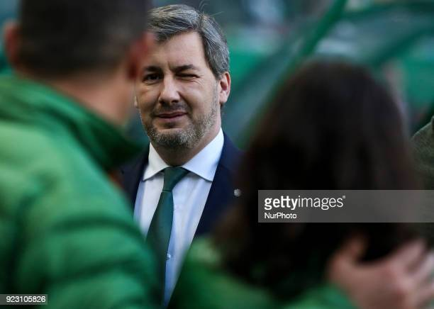 Sporting's chairman Bruno de Carvalho reacts during the UEFA Europa League football match between Sporting CP and FK Astana at Jose Alvalade Stadium...