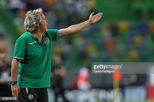 Sporting's coach Jorge Jesus during the Friendly match between Sporting CP and Lyon at Estadio Jose Alvalade on July 23 2016 in Lisbon Portugal