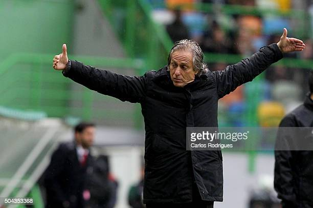 Sporting's coach Jorge Jesus during the match between Sporting CP and SC Braga for the Portuguese Primeira Liga at Jose Alvalade Stadium on September...