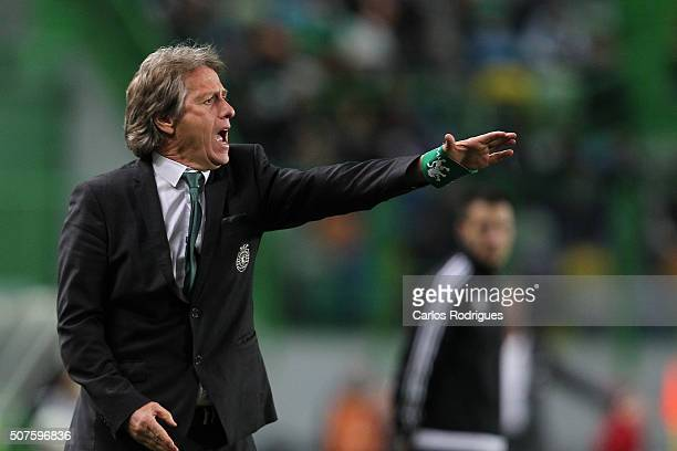 Sporting's coach Jorge Jesus during the match between Sporting CP and A Academica de Coimbra for the Portuguese Primeira Liga at Jose Alvalade...