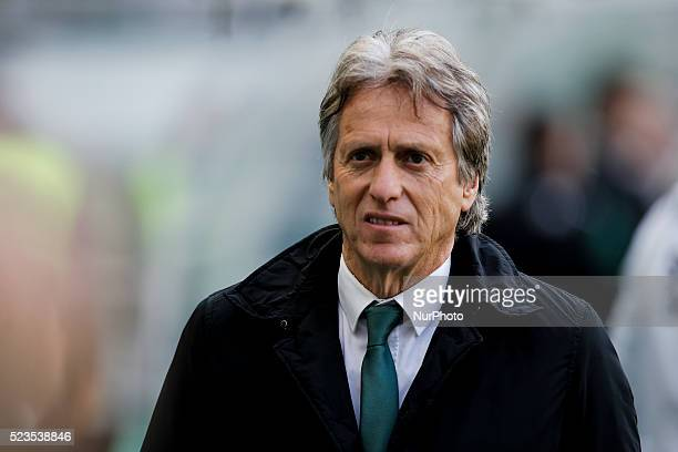 Sporting's coach Jorge Jesus during the Portuguese League football match between Sporting CP and CF Uniao at Jose Alvalade Stadium in Lisbon on April...
