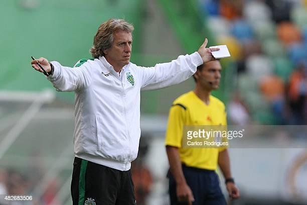 Sporting's coach Jorge Jesus during the preseason friendly between Sporting CP and AS Roma at Estadio Jose Alvalade on August 1 2015 in Lisbon...