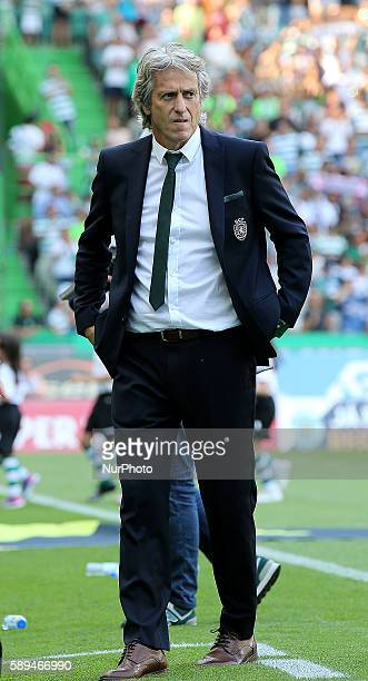 Sporting's coach Jorge Jesus from Portugal in action during the Premier League 2016/17 match between Sporting CP vs Maritimo at Estádio Jose Alvalade...