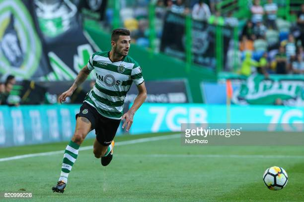 Sportings defender Cristiano Piccini from Italy during the Preseason Friendly match between Sporting CP and AS Monaco at Estadio Jose Alvalade on...