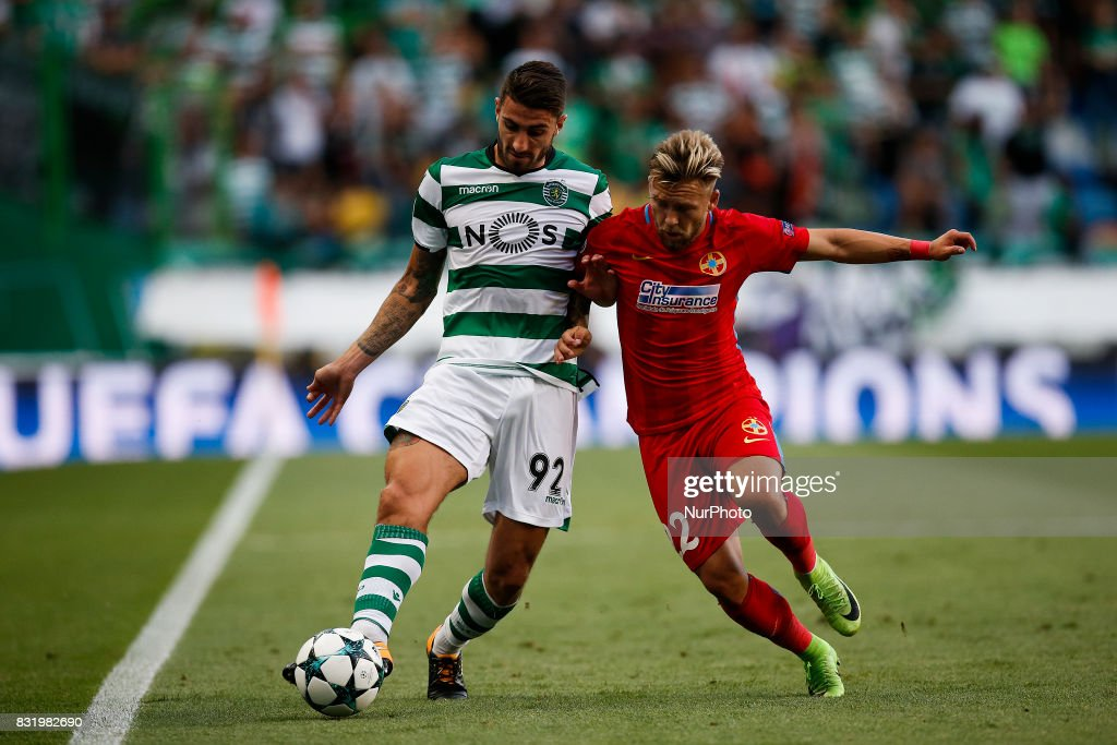 Sporting CP v Steaua Bucuresti - UEFA Champions League Qualifying Play-Offs Round: First Leg : News Photo