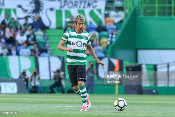 Sportings defender Fabio Coentrao from Portugal during the Preseason Friendly match between Sporting CP and AS Monaco at Estadio Jose Alvalade on...