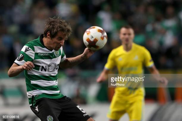 Sporting's defender Fabio Coentrao from Portugal in action during the UEFA Europa League round of 32 second leg football match between Sporting CP...
