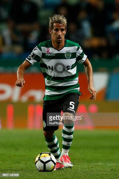 Sporting's defender Fabio Coentrao in action during Primeira Liga 2017/18 match between Sporting CP vs GD Chaves in Lisbon on October 22 2017