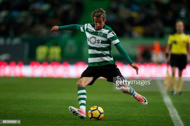 Sporting's defender Fabio Coentrao in action during Primeira Liga 2017/18 match between Sporting CP vs CF Belenenses in Lisbon on December 1 2017