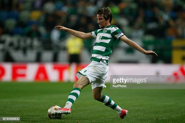 Sporting's defender Fabio Coentrao in action during UEFA Europa League football match between Sporting CP vs FC Viktoria Plzen in Lisbon on March 8...